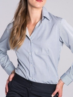 Classic Fineline Stripe Blouse-The Better Blouses Collection