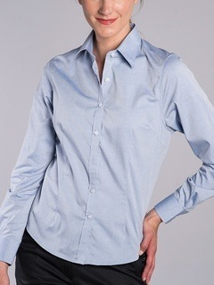 Ladies Pinpoint Oxford, No Iron Shirt