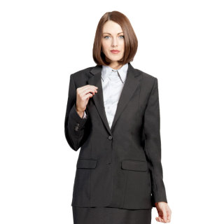 Ladies Single Breasted Blazer-Optiweave Polywool Stretch