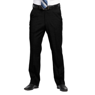 Mens Plain Front Pants-Optiweave Polywool Stretch