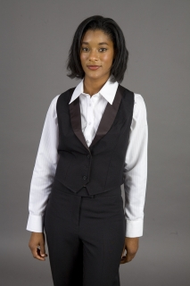 Ladies Gourmet Lined Tuxedo Vest-Gourment Collection