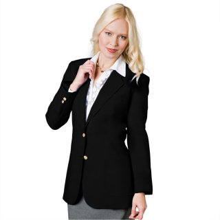 Ladies 2 Button Economy Blazer-UltraLux Polyester Collection