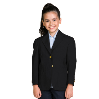 Girls 2 Button Economy Blazer-Collegiate