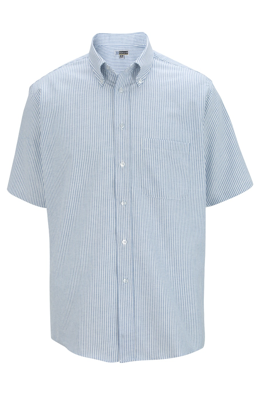 Short Sleeve Oxford Pin Stripe Shirt-Nucrisp