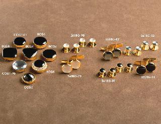 Gold cufflink-
