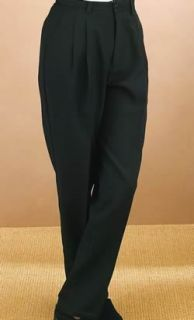 2825P Comfort Waist Pleated Trouser-Fabian Couture Group International