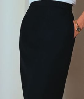 Comfort waist, knee length skirt-
