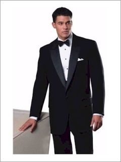 100% Polyester 1 Button Notch Tux Jacket-