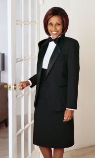 Single Breasted Notch Tuxedo Jacket-