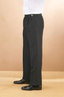 Polyester Pleated Adjustable Waist Tux Pant-
