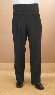 3036P Polyester Pleated Comfort Waist Tux Pant-Fabian Couture Group International