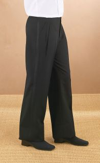3036PL Polyester Pleated Comfort Waist Tux Pant-