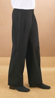 Wool Pleated Comfort Waist Tux Pant-Fabian Couture Group International