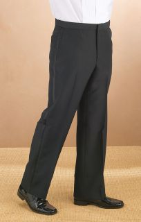 Wool Plain Comfort Waist Tux Pant-
