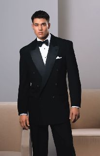 100% Wool Double Breasted Peak Rental Tux-