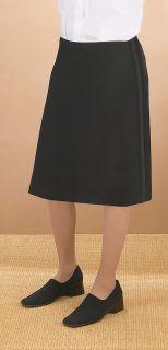 """Wool 26"""" Tuxedo Skirt-"""