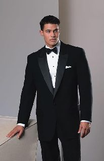 100% Wool 1 Button Peak Rental Tux Jacket-Fabian Couture Group International