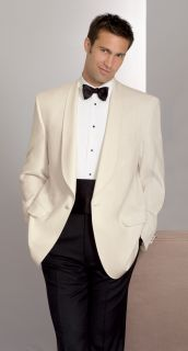 Fabian Couture Group International Hospitality 100% Polyester Ivory Dinner Jacket-Fabian Couture Group International