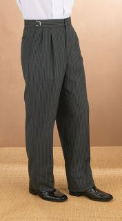 55/45 Poly/Wool Morning Strip Trouser-Fabian Couture Group International