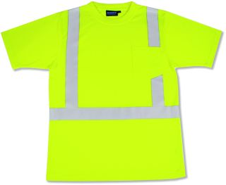 ANSI Class 2 T-Shirt Short Sleeve w/Reflective Tape Hi-Viz
