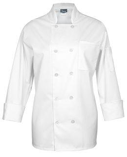 C10CC L/S 10-BTN White-Fame Fabrics