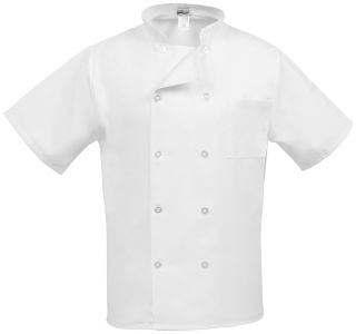 Short Sleeve Classic Chef Coat-Fame Fabrics