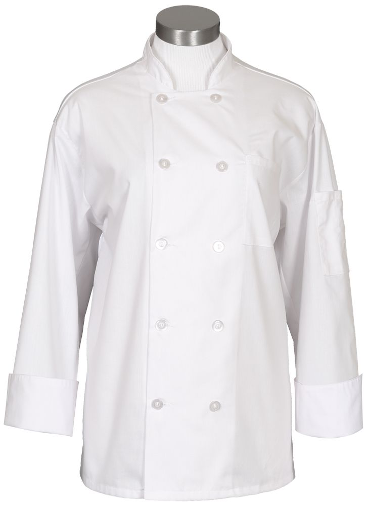 10 Button Mesh Back Chef Coat