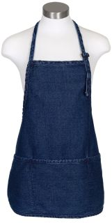 Three Pocket Bib Rounded Bottom Apron-
