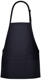 Three Pocket Bib Apron - Larger Dimensions-Fame Fabrics