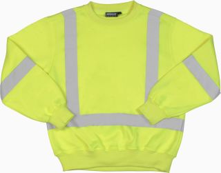 Lime ANSI Class 3 Crew Neck Sweatshirt Hi-Viz