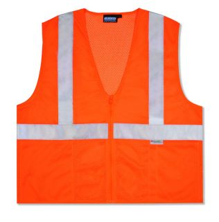 ANSI Class 2 Vest Mesh Hi-Viz - Zipper