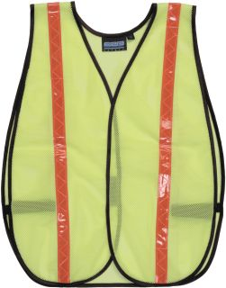 Non-ANSI Vest w/Stripe - Hook & Loop - One Size Fits Most