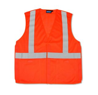 ANSI Class 2 Vest Mesh Break-Away Hi-Viz - Hook & Loop