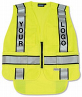 ANSI 207 PSV Vest Knit Tricot Break-Away Hi-Viz - Zipper Extended Tail