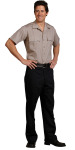 Mens Tan Gab SS Public Safety Shirt-