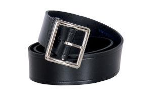 "1 1/2"" Black Lthr Belt/Garrison Buckle-Fashion Seal Health Care"
