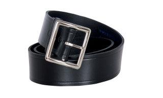 "1 3/4"" Black Lthr Belt/Garrison Buckle-Fashion Seal Health Care"