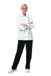 Unisex White PTF Premium Exec Chef Coat