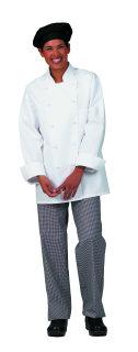 Unisex White PTF Premium Chef Coat/10 KB