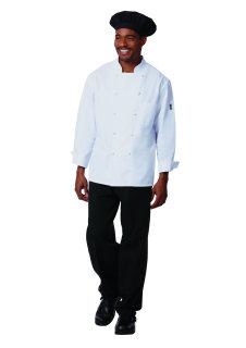 Unisex White P/C Prof Chef Coat/10 KB
