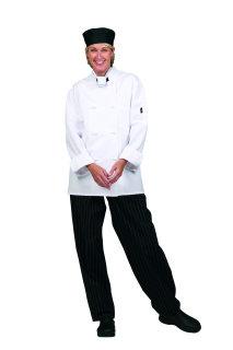 Unisex Wht P/C Classic Chef Coat/8 KB