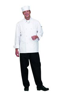 Unisex White P/C Classic Chef Coat/8 Btn