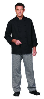 Uni Blk Vat PTF Premium Chef Coat/10 KB