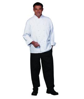 Unisex White 100C Classic Euro Chef Coat
