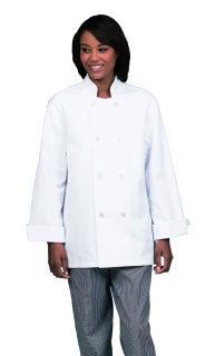Unisex Wht Classic Valu Chef Coat/8 Btn