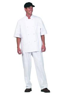Unisex White P/C Valu SS Chef Coat
