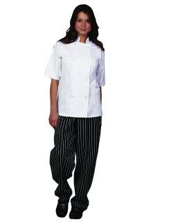 Uni Wht Spun Poly POP SS Value Chef Coat