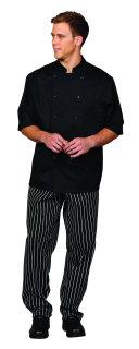 Unisex Black PTF SS Chef Coat