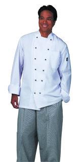 UV1788 Uni White P/C (R) Trad Chef Coat