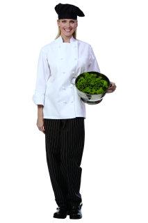 UV1900 Uni White P/C (R) Chef Coat/10KB